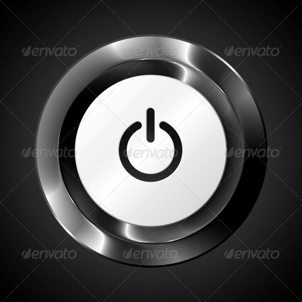 Black Metallic Vector Power Button by art_of_sun Black metallic vector power button. Editable EPS and Render in JPG format