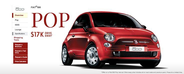 2014 Fiat 500 : Pop base model now $17,000 driveaway - http://www.caradvice.com.au/296531/2014-fiat-500-pop-base-model-now-17000-driveaway/