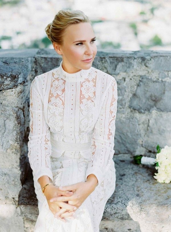 This lace wedding dress is classic-chic perfection   2 Brides Photography