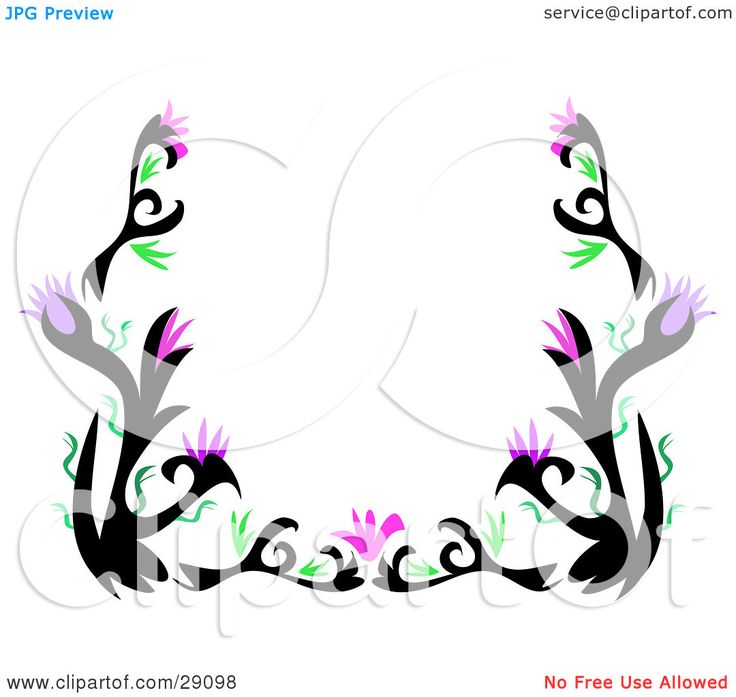35 Best Flower Tattoo Borders Images On Pinterest