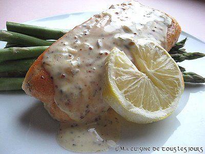 Recette Filet de saumon érable et moutarde par Ma cuisine de tous les jours