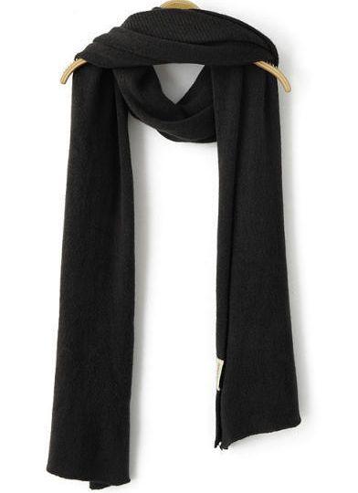 Black Vintage Knit Scarf 18.00