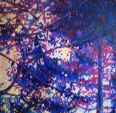 Purple pines, Oil on canvas, 70X70cm,2013