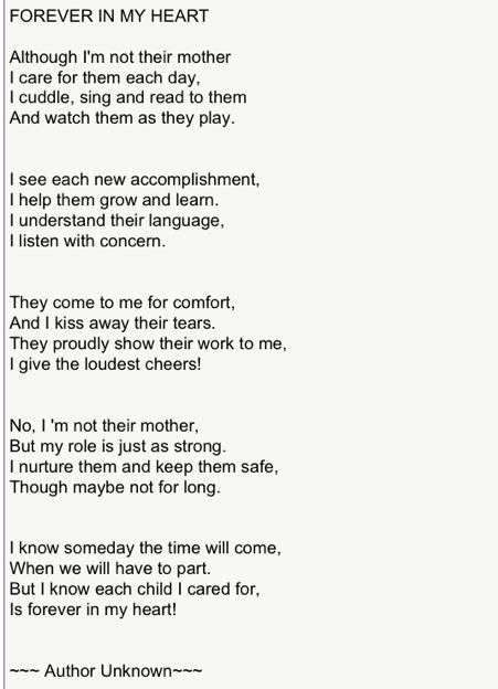 Forever In My Heart A Foster Mom S Poem