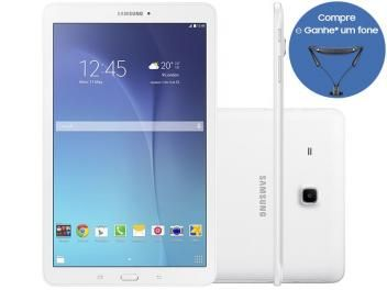 "Tablet Samsung Galaxy Tab E 8GB 9,6"" 3G Wi-Fi - Android 4.4 Proc. Quad Core Câm. 5MP + Frontal"