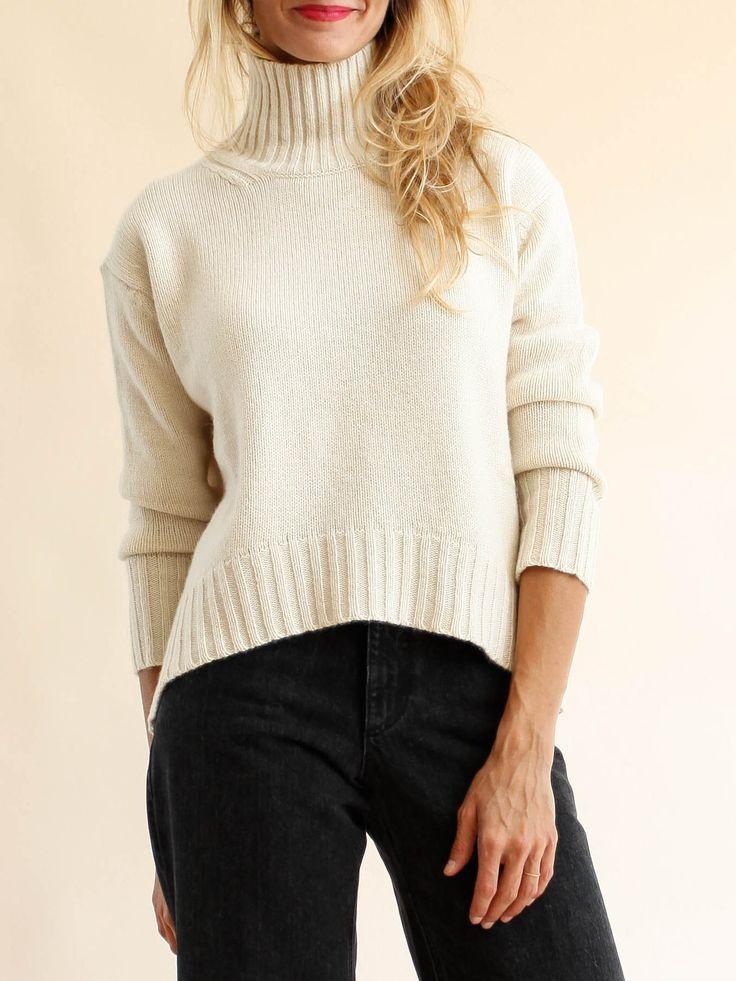 Pomandère - Alpaca Turtleneck Sweater - Cream
