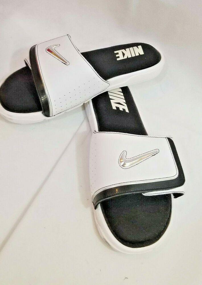 Men S Nike Comfort Slide 2 Slide Sandals Flip Flops White Comfortable Nike Flipflops Flip Flop Sandals Sandals Slide Sandals