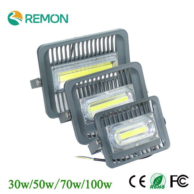 LED Floodlight 30w 50w 70w 100w LED Outdoor Lighting 85-265V Warm Cool White LED Lamp Super Bright LED Flood Light Refletor LED