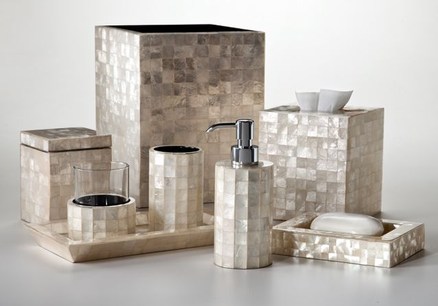Capiz Ivory :: Labrazel :: Luxury Bath Accessories