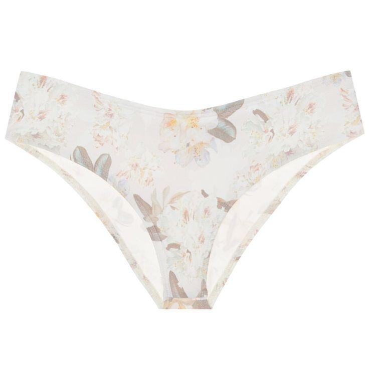 Montce Additional Coverage Nu-Micro Bikini Bottom in Ete Floral size X-Small