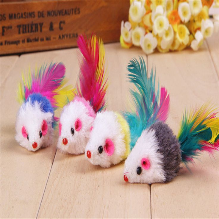 new kind 3PCS Furry Mouse Cat Kitten Real Fur Gravel Sounds Cute Toy Faux Mice Cat Toys high quality new designed cat funny toy