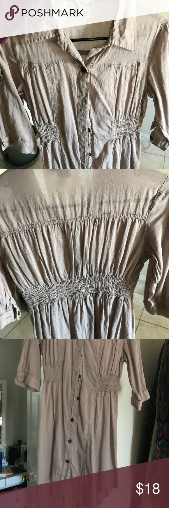 Cover up or layering dress (see thru) Beige  Cute and comfortable  Over bikini or leggings Dresses Midi