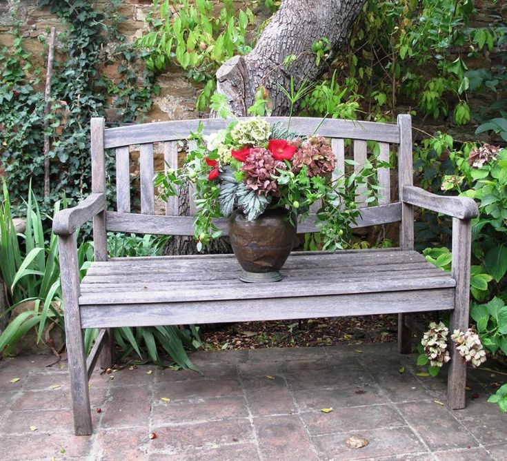 35 best images about tuscan flower arrangements on for Flower bench ideas