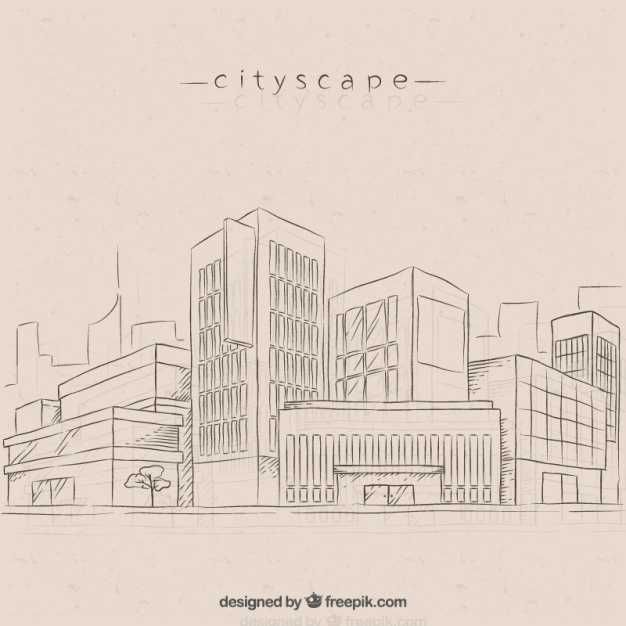Sketches Modern City Background - FREE