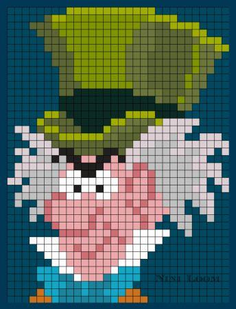 Alice aux pays des merveilles et des perles à repasser