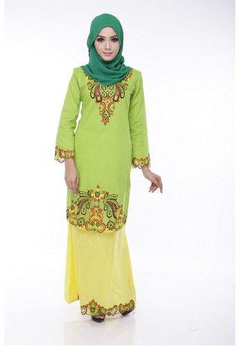 Agena Green Baju Kurung from Maribeli Butik in Yellow and Green Baju kurung moden agena dari maribeli butikcotton linen sulaman tangan di hasilkan dengan terperinci dan berkualiti ...