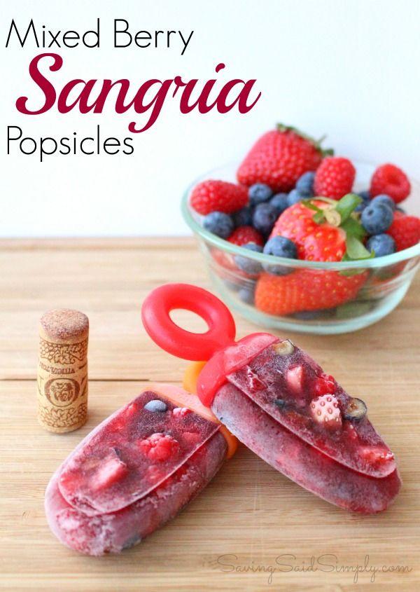 Mixed Berry Sangria Popsicle Recipe (sponsored) | SavingSaidSimply.com