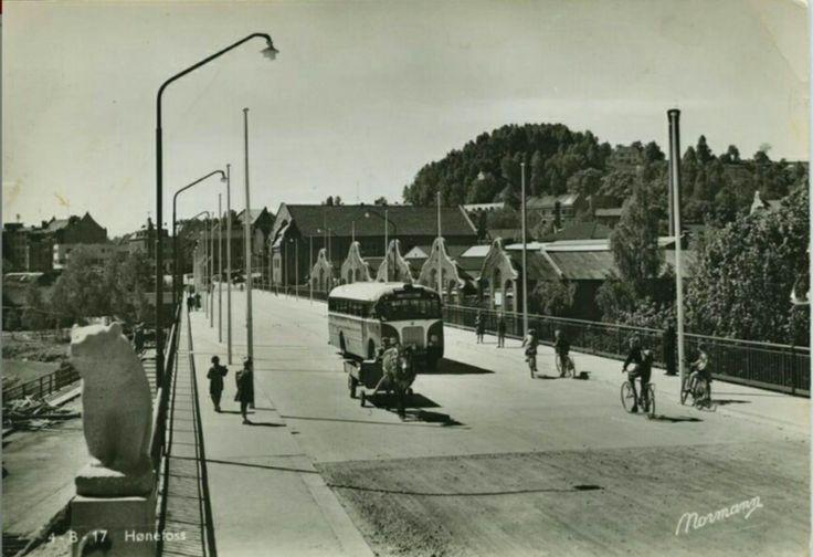 Buskerud fylke Ringerike HØNEFOSS 1950-tallet utg Normann