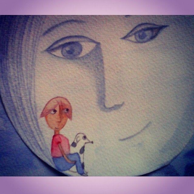 cuento Graciela Cabal #tale#pencil#drawing#moon#nofear#lapiz#luna#cuento