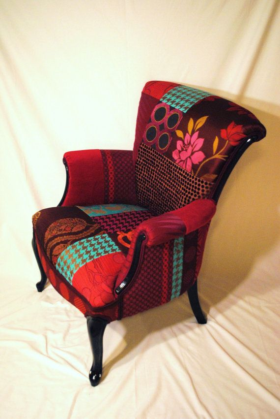 Plum Patchwork Chair by RecoveryAct on Etsy, $600.00