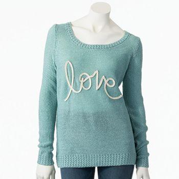 LC Lauren Conrad Lurex love Sweater #LCLaurenConrad