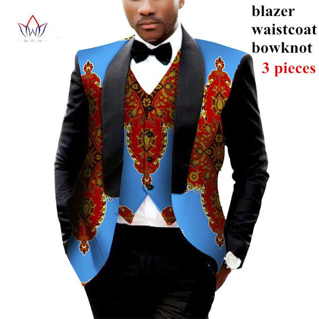 Mens African Clothing Two Pieces Set Mens Jackets and Coats Mens Blazer Slim Fit Blazer Jacket Dashiki Men Plus Size 6XL WYN176