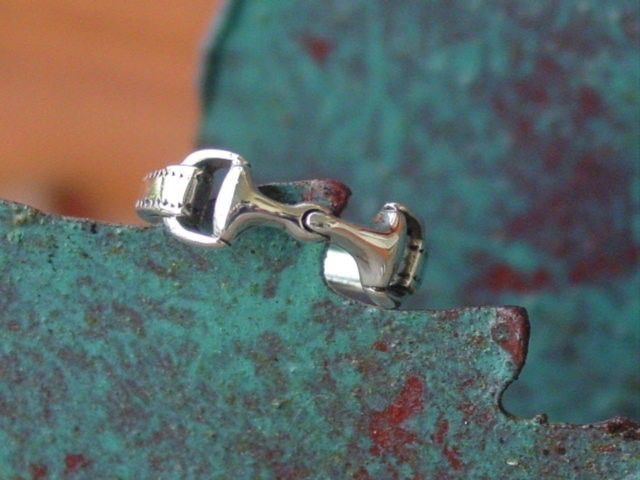 snaffle bit ring sterling silver great detail