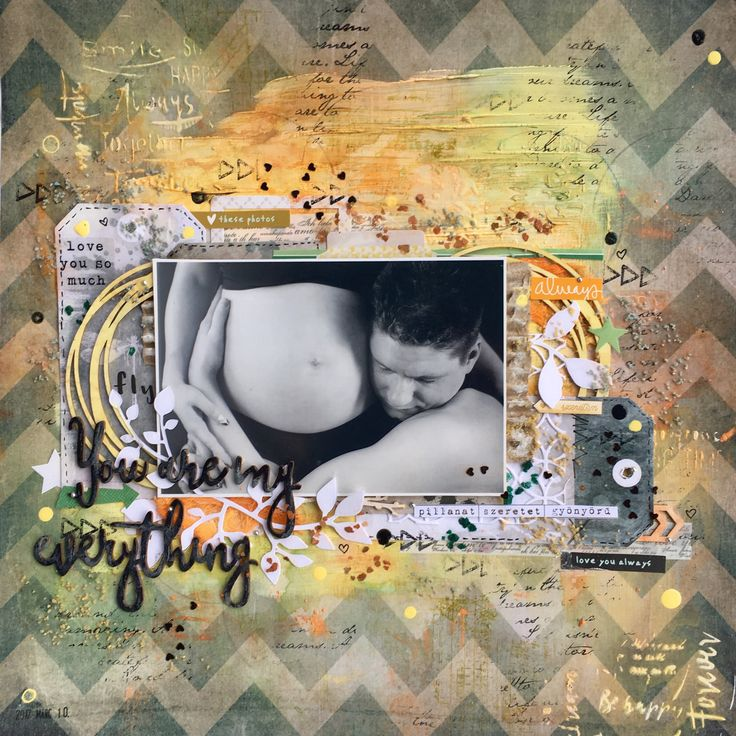 Mixed media page. Paper by 7dots studio (Homegrown collection), i used 13arts products