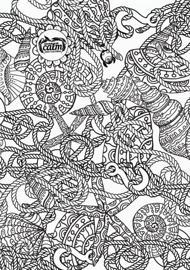 Nautical coloring page Zentangles