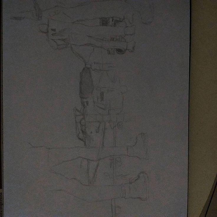 Treinando desenho (folha de SP 18 de novembro de 2015) #folhadesaopaulo #drawing #sketch #prayforparis #war #terrorism