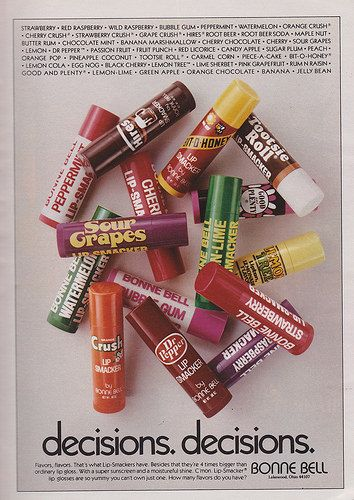 1981 Bonne Bell Lipsmackers ad