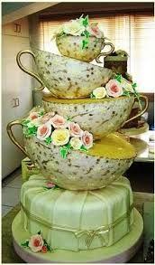 vintage wedding cake teacup - Google Search