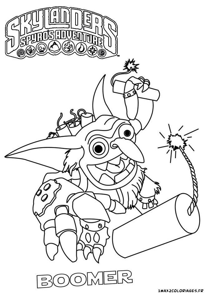 20 best skylanders images on pinterest coloring book pages free printables and 4 kids - Skylanders dessin ...