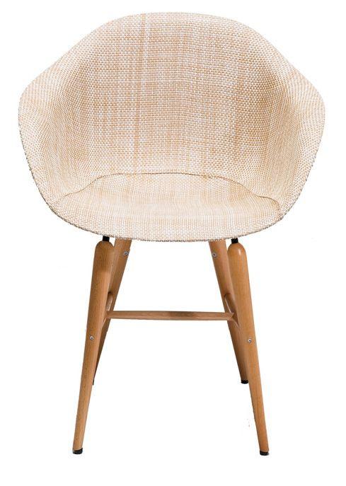 Sedia con braccioli Forum Wood Beige - Kare Design
