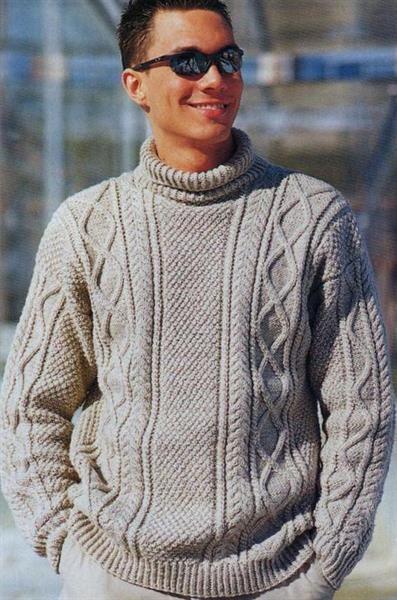 Мужские вязанные свитера со схемами