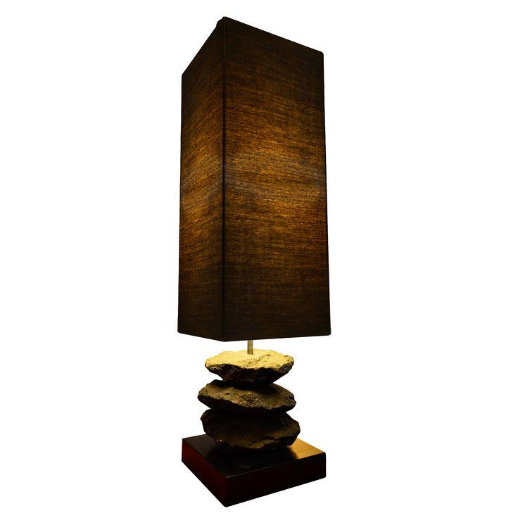 Briquette Table Lamp. Nature inspired design