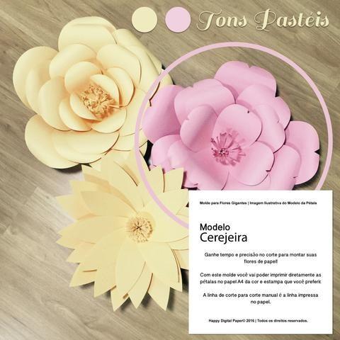 Molde Pétalas para Criar Flores Gigantes | Inspiração Cerejeira