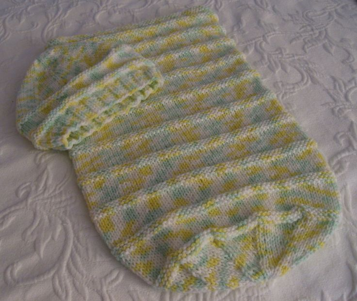 free knitted patterns baby bunting Maries Home and ...