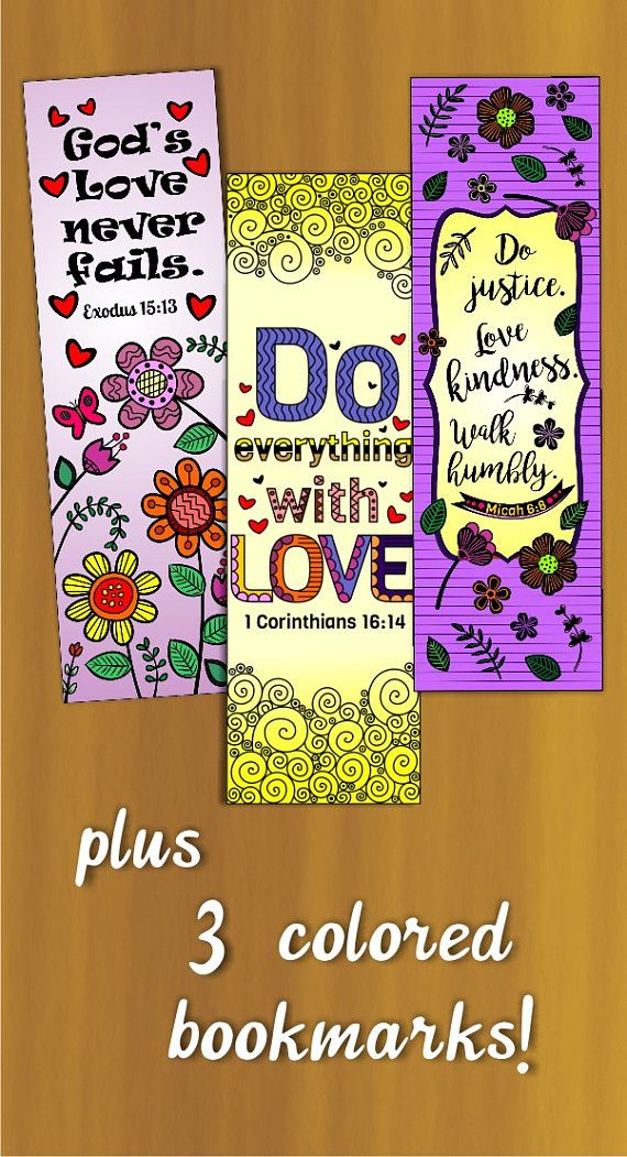 set of 8 bible verse coloring bookmarks for kids