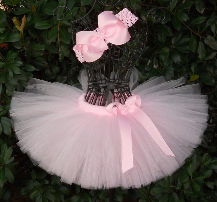 Baby Tutu Light Pink Tutu 1st First Birthday Tutu Cake