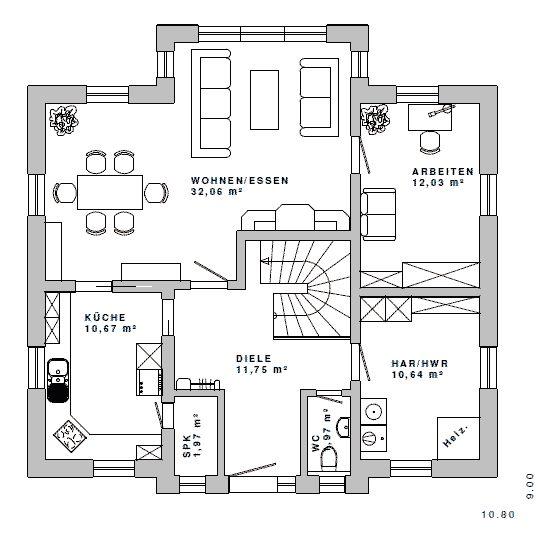 4 giebel haus grundriss google suche haus pinterest for Architektur einfamilienhaus grundrisse