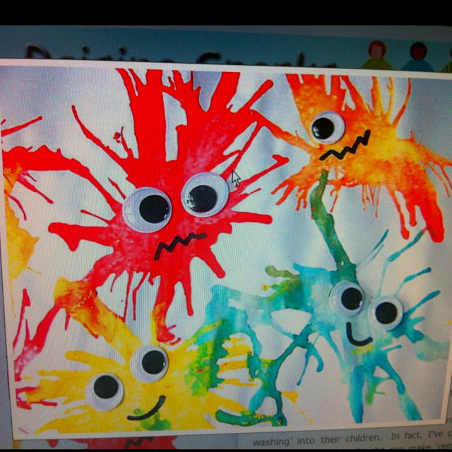 Blow paint germs :) so cute