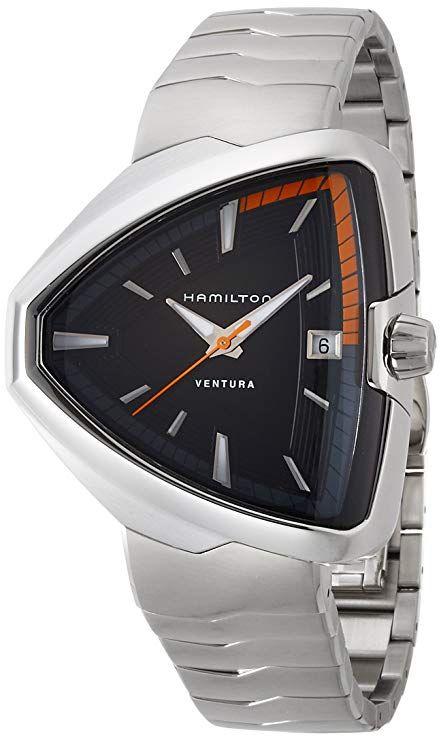 0d9c727c253 Hamilton Ventura Elvis80 Black Dial Stainless Steel Mens Watch H24551131   785  watches  luxury  men  Hamilton