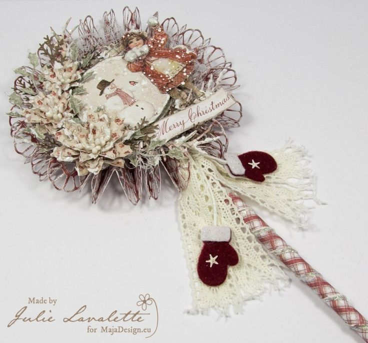 "Wonderful Lollipop Card by Julie Lavalette, using papers from MajaDesign's collection ""I Wish"""