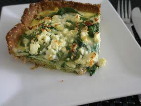 frk. sveske: kornfri spinattærte med kylling + tomatsalat