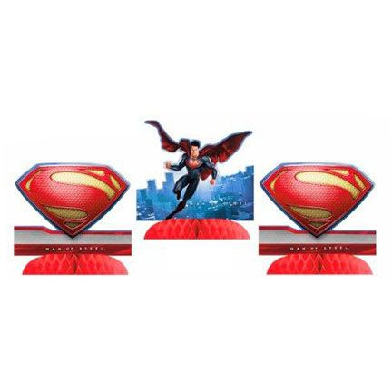 """Superman Tabletop Decoration (includes 3 pcs of 9"""" table centerpieces in a pack)"""