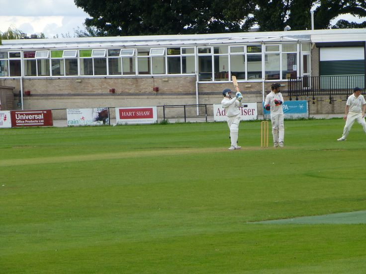 Josh scoring 4 runs against Higham - 12-8-17