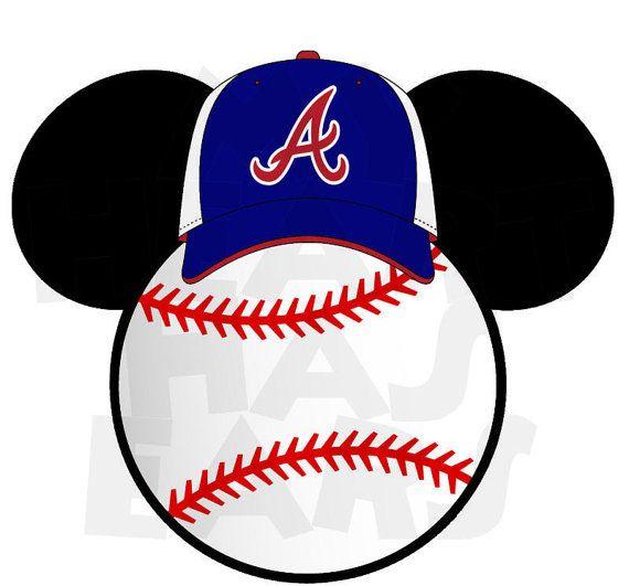 Printable DIY Baseball Atlanta Braves Mickey by MyHeartHasEars, $5.00