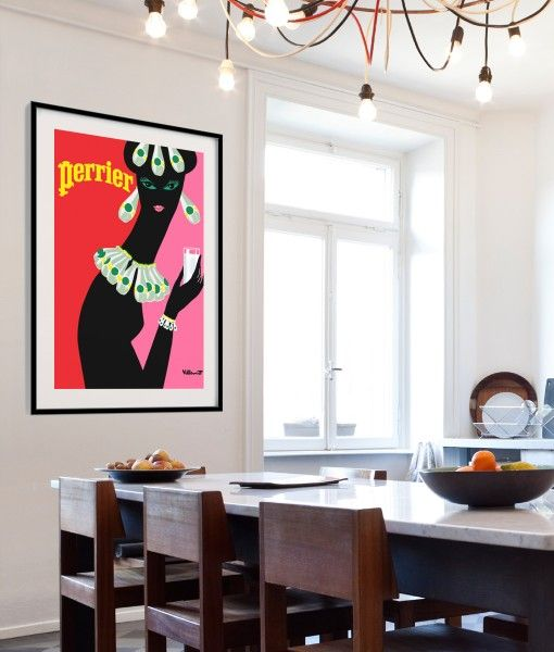 Perrier Woman Vintage Poster- Available in different sizes