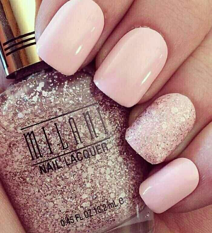 Subtle pink with a touch of glitter